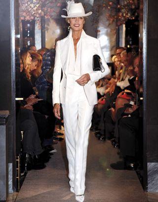 Lauren Hutton models for Mr. Ford