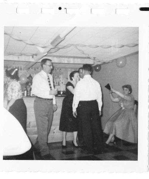 Vintage NYE party pictures c1950s