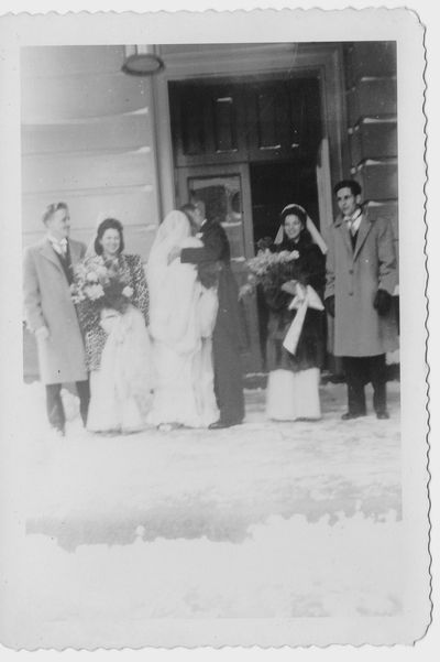 1940s winter bride