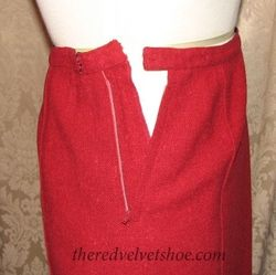 Sybill Connolly 1960s Vintage Couture Red Wool Suit  (9)