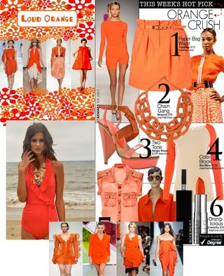 Orange color story Spring 2011