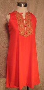 Vintage 1960s Gossard Artemis Gypsy Red Embroidered nightgown & robe   (11)