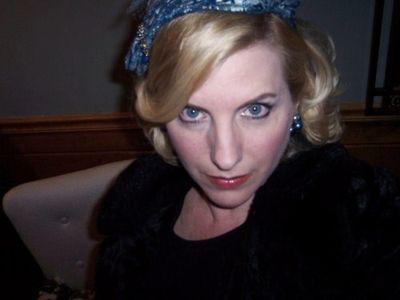 blue vintage hat