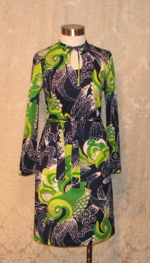 1960s B. Altman & Co. designed by Ruth Walter Pucci style dress