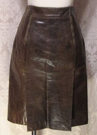 1980s Vintage Kenzo Jungle lambskin leather skirt (3)