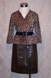 Vintage Kenzo Jungle Skirt & Faux Leopard Top @ The Red Velvet Shoe