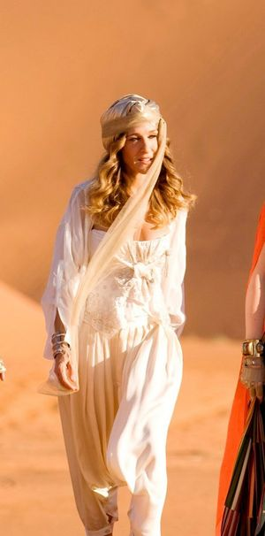 Carrie Bradshaw gold turban