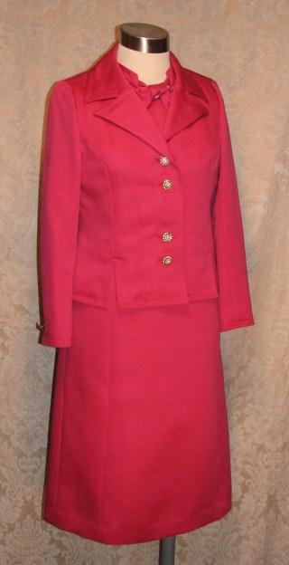1960s Vintage Baron Peters (Woolf Brothers) Hot Pink Peau De Soie Dress & Jacket Suit (7)