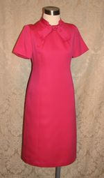 1960s Vintage Baron Peters (Woolf Brothers) Hot Pink Peau De Soie Dress & Jacket Suit (2)
