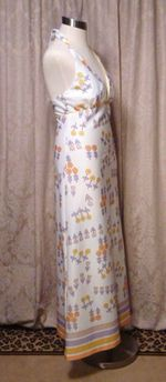 Julie Miller California 1970s vintage halter dress & scarf (8)