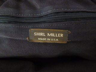 Vintage Shirl Miller embossed leather clutch Made in USA (5)