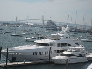 Yachts in Newport Harbor