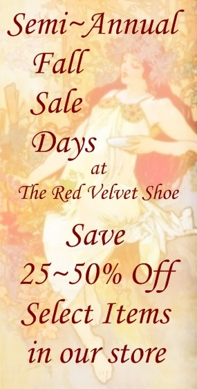 Fall Sale Days at The Red Velvet Shoe