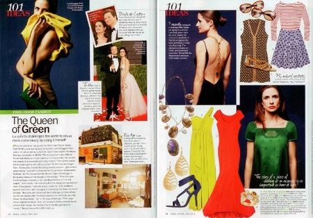 Livia Firth featured in Marie Claire May 2011 1