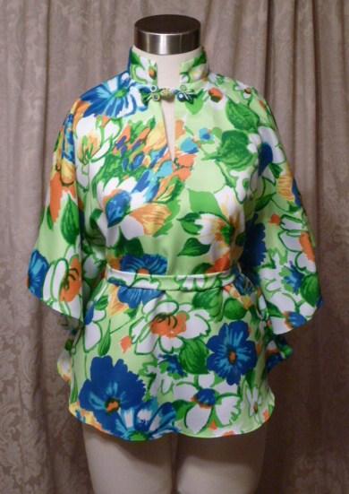 Vintage Pomare Hawaii Bold Floral Kimono Top