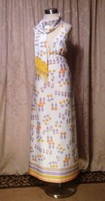 Julie Miller California 1970s vintage halter dress & scarf