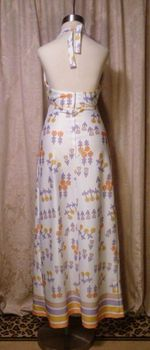 Julie Miller California 1970s vintage halter dress & scarf (6)