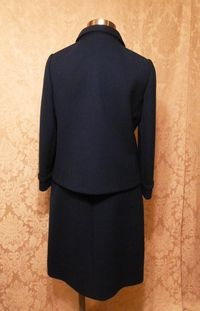 1960s vintage royal  navy blue dress suit Betty of Providence  (8)