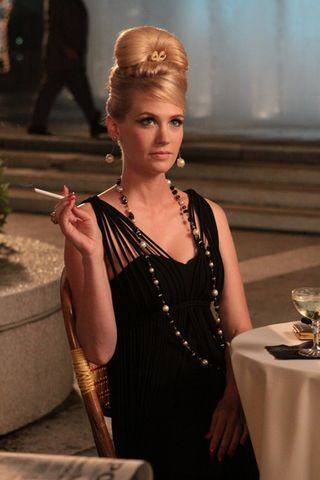 Betty Draper Black Dress Italy Mad Men