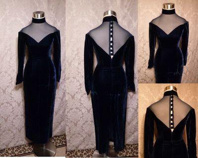 Vintage black dress at The Red Velvet Shoe 2