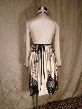 Vintage Aubrey Beardsley The Peacock Skirt Salome print dress (3)