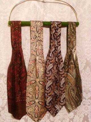 Vintage paisley ascot cravat (3)