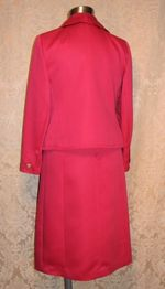 1960s Vintage Baron Peters (Woolf Brothers) Hot Pink Peau De Soie Dress & Jacket Suit (12)