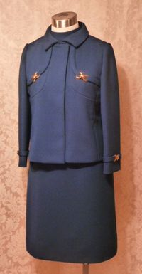 1960s vintage royal  navy blue dress suit Betty of Providence  (19)