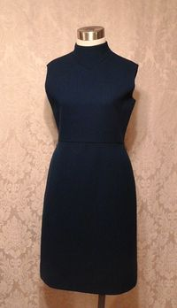 1960s vintage royal  navy blue dress suit Betty of Providence  (14)