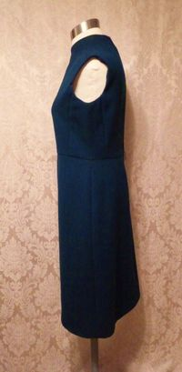 1960s vintage royal  navy blue dress suit Betty of Providence  (17)