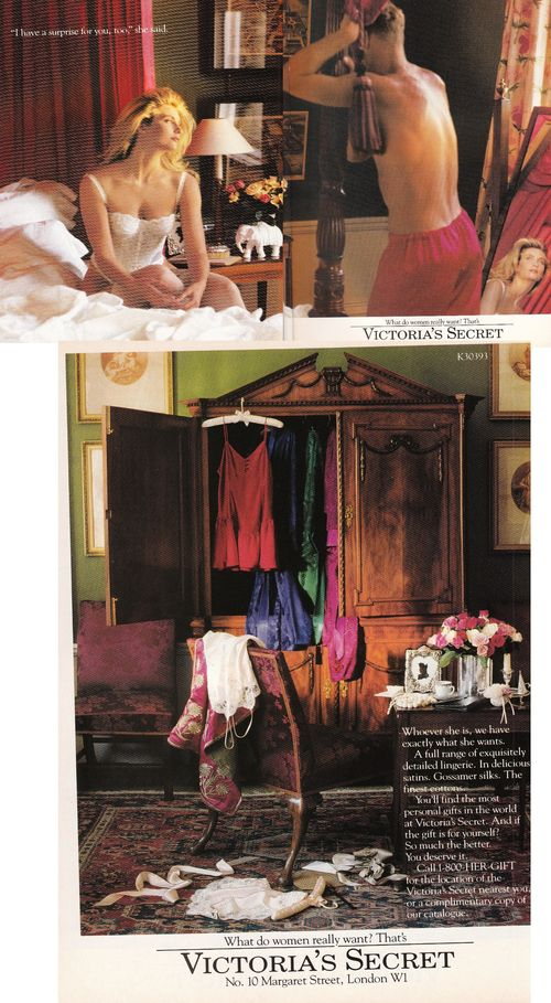 Victoria's Secret Ad Feb 1990 Victoria magazine issue