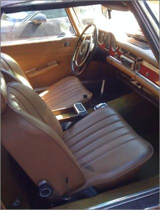 1971 MERCEDES 280 SL PAGODA TOP RED CONVERTIBLE (4)
