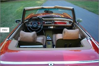 1971 MERCEDES 280 SL PAGODA TOP RED CONVERTIBLE (3)
