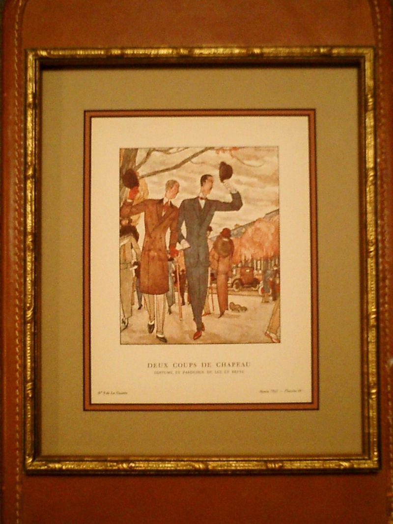 Deux Coups de Chapeau  Costume, et Pardessus, de Lus et Befve by Pierre Mourgue