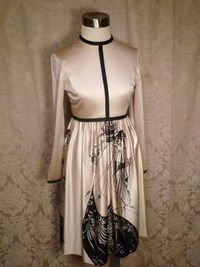 Aubrey Beardsley vintage 1970s dress The Peacock Skirt Salome print (6)