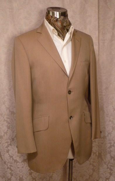 Vintage British Accent Tailored by Tiger GULINS khaki blazer (2)