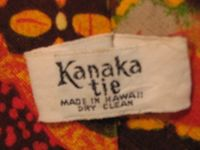 Vintage 1970s Kanaka Tie Made in Hawaii 100% cotton (3)