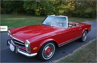 1971 MERCEDES 280 SL PAGODA TOP RED CONVERTIBLE