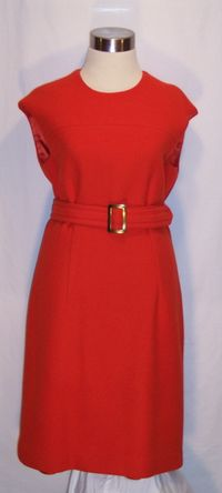 Vintage 1960s orange sheath dress & belt