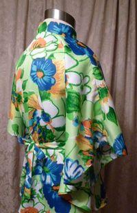 Vintage Pomare Hawaii Kimono Style Batwing Sleeve Blouse  (6)
