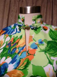 Vintage Pomare Hawaii Kimono Style Batwing Sleeve Blouse  (3)