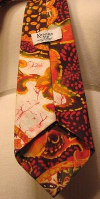 Vintage 1970s Kanaka Tie Made in Hawaii 100% cotton (4)