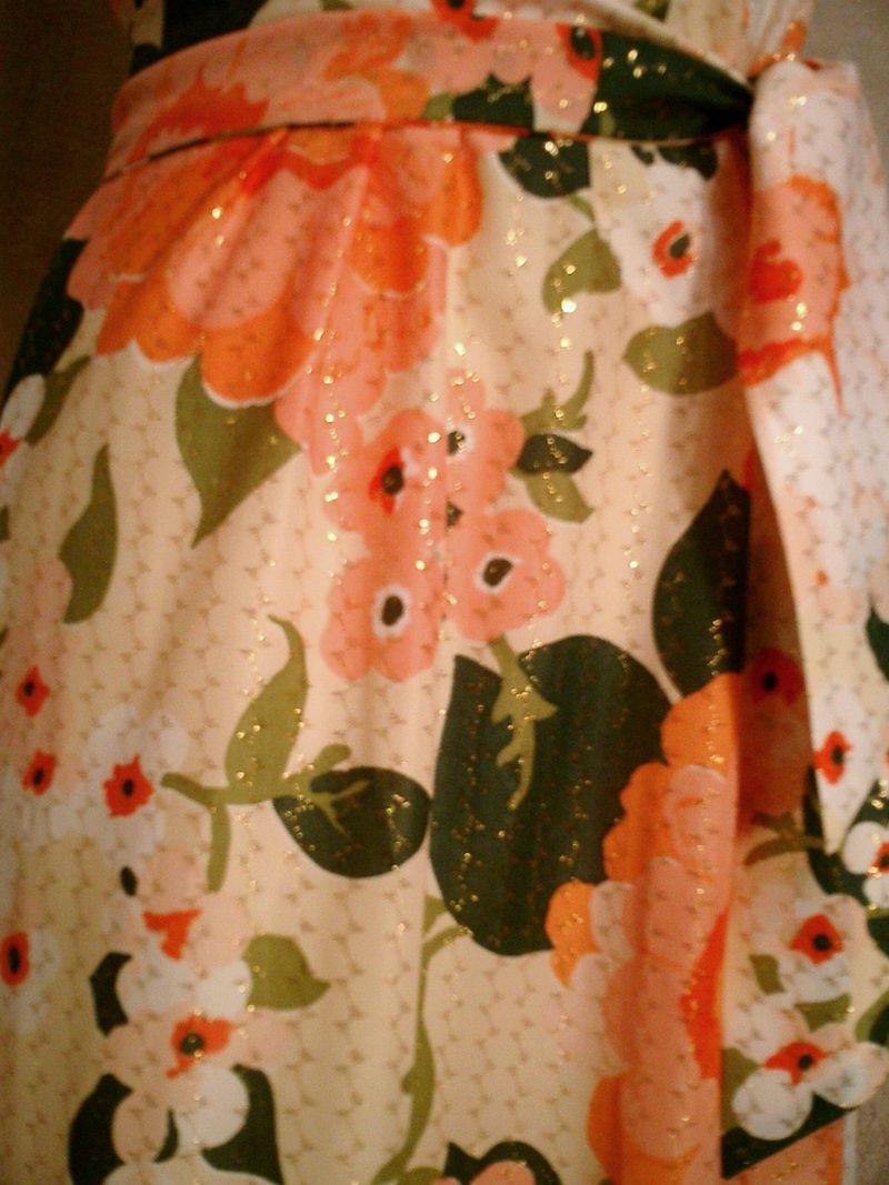 Herbert Laurence vintage 1960s 1970s long floral maxi gown dress (9)