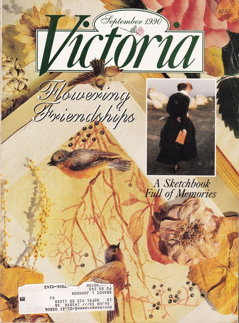 Victoria magazine September 1990 cover