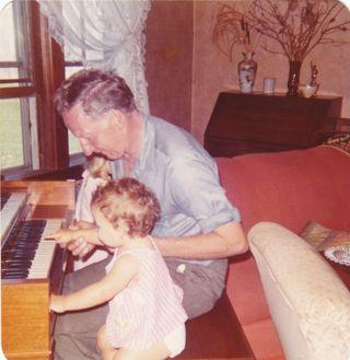 Grandpa Johnson at the organ with Brandi