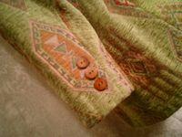Vintage Henri Bendel New York tapestry velvet brocatelle green blazer (9)