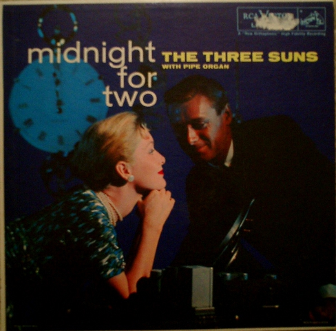The Three Suns Midnight for Two 1957 album cover