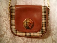 5A Baker Blankets sheet plaid leather shoulder bag (3)