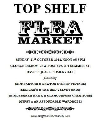 Top Shelf Flea Market Sunday October 21 2012