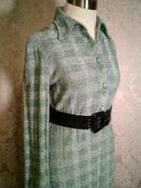 Vintage Gino Paoli green & silver metallic sweater dress made in italy (7)